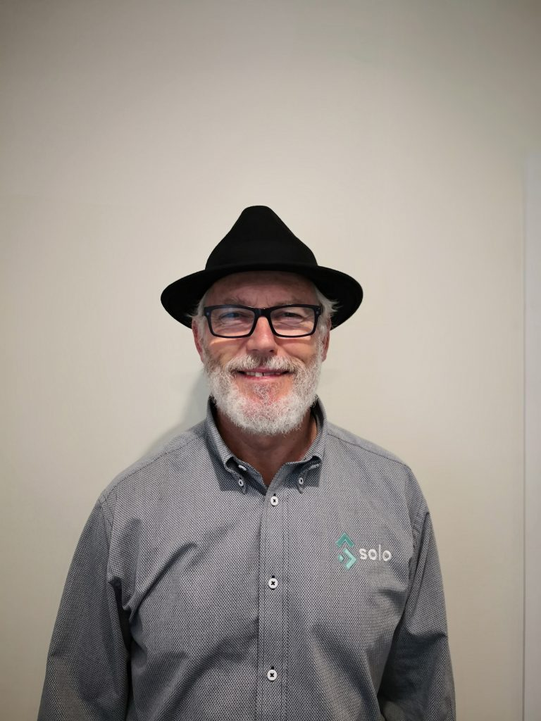 Smiling man with a hat