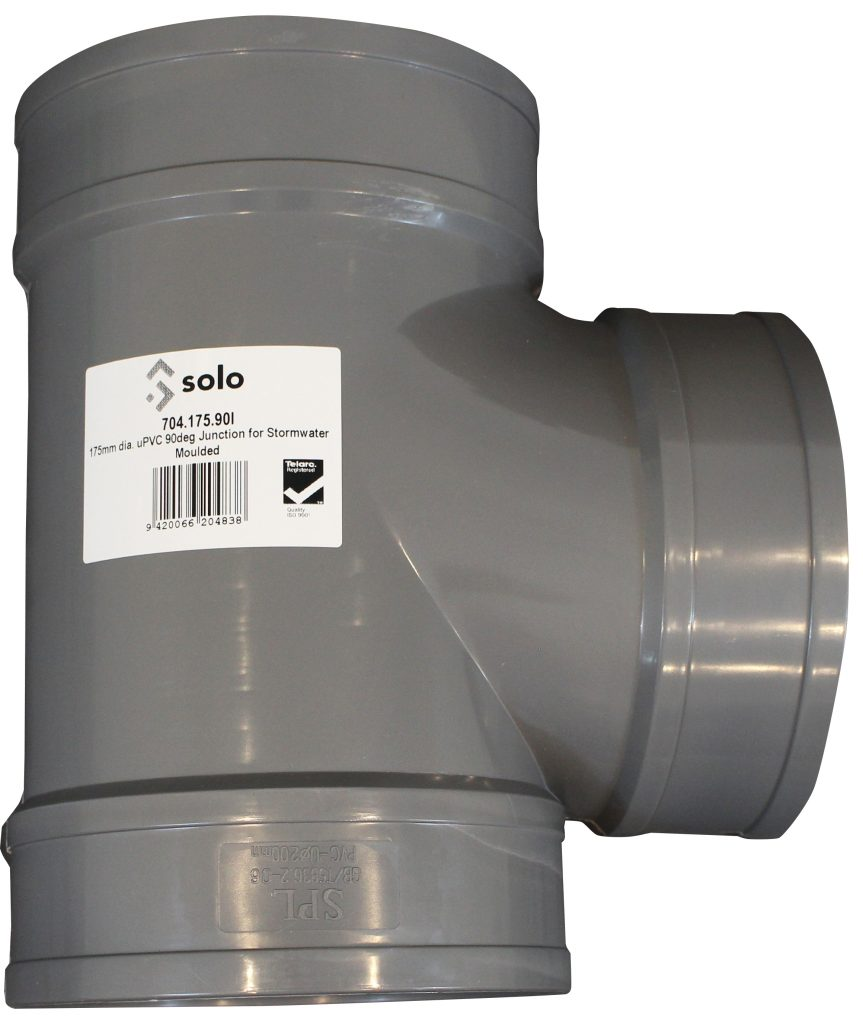 A picture of an injection moulded fitting for stormwater use.
