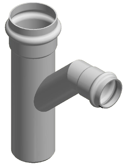 An image of an SN16 junction for sewer application fabricated by Solo.