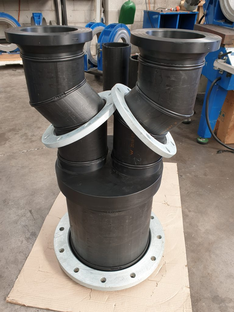 A but welded pipe manufactured at Solo.