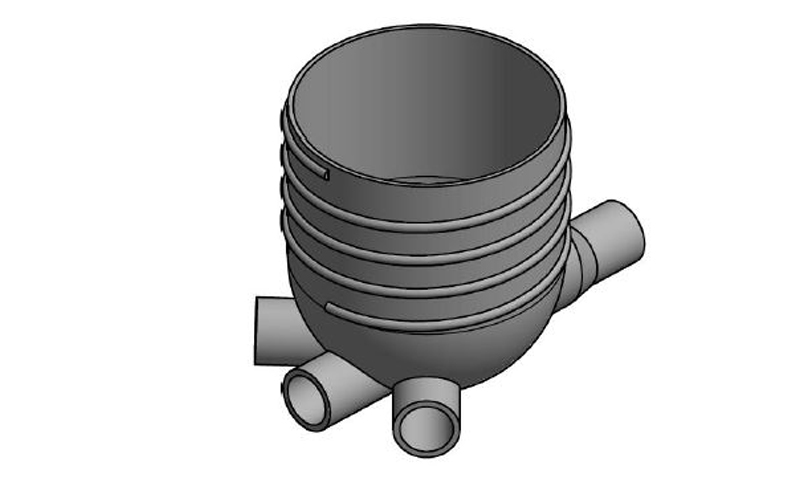 A PE pit that is manufactured by Solo Plastics.