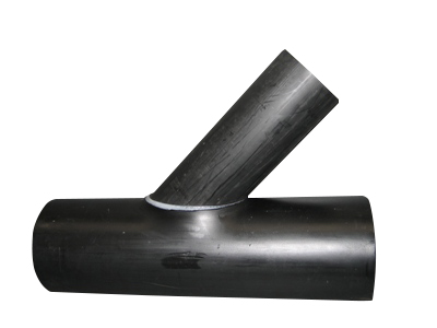 An image of a PE drainage Wye junction.