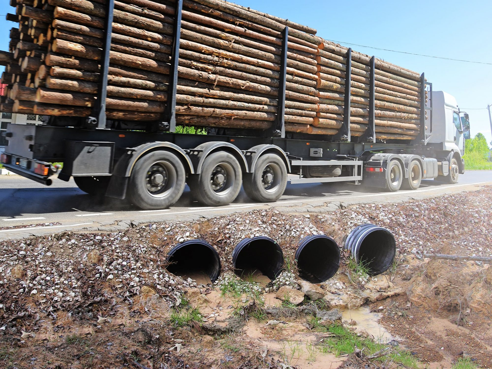 Culvert pipe, a robust draining piping system